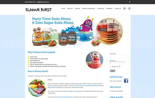Image of FlavourBurst Website