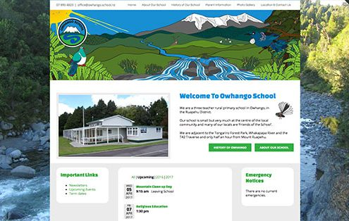 Image of Owhango School Website