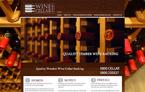 Image of the wine celler website